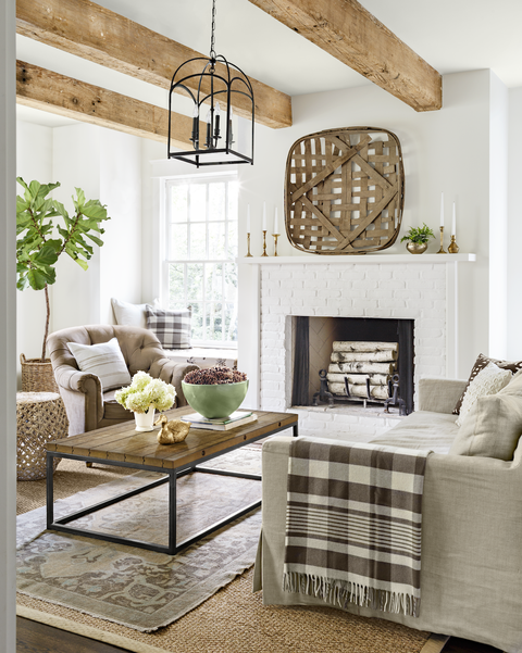 rustic neutral living room
