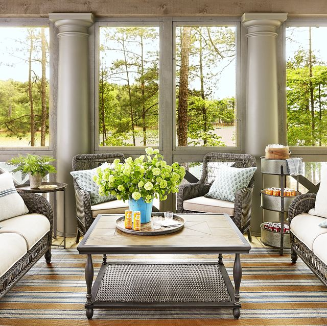 20 Sunroom Decorating Ideas - Best Designs for Sun Rooms on garden design for home, design fashion, bamboo for home, lighting for home, design patterns for home, colors for home, storage for home, flooring for home, landscaping for home, kitchen design for home, design organization, decorating for home, products for home, interiors for home, design flowers, accessories for home, projects for home, paint for home, inspiration for home, shower designs for home,