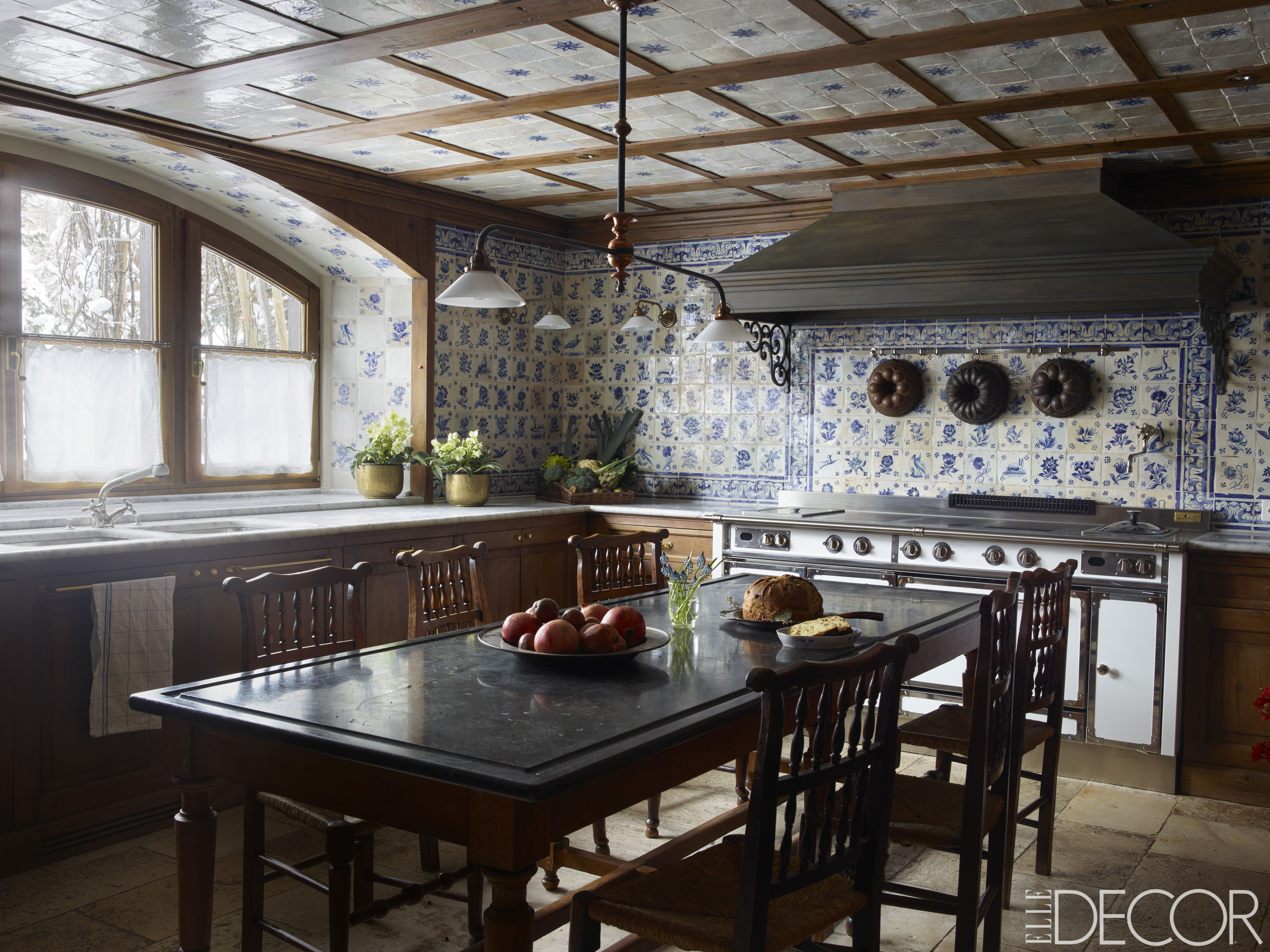 Lovely Rustic Kitchen Ideas Part - 10: Elle Decor