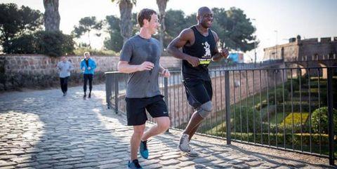mark zuckerberg corriendo en barcelona