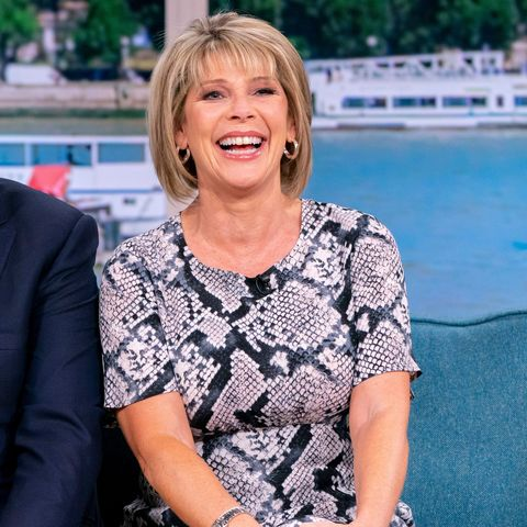 Video: Ruth Langsford sashays into the weekend in snakeskin dress