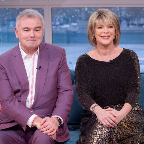 ruth langsford shines in perfect ms sequin animal print party skirt   and it's only £2950