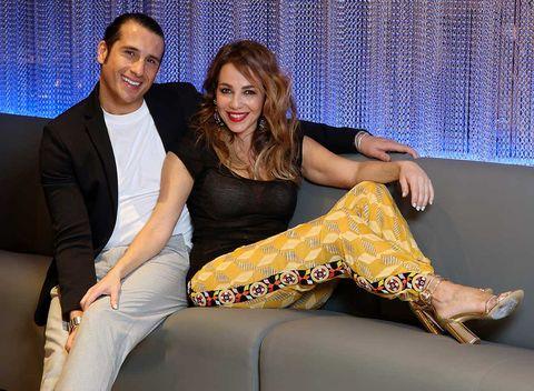 Ruth Jiménez posa con su novio Santiago Tejedor