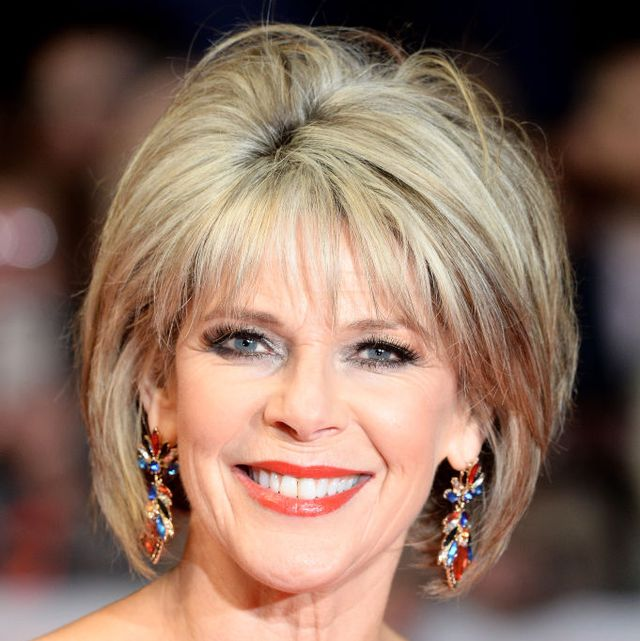 ruth langsford new hair leather coat