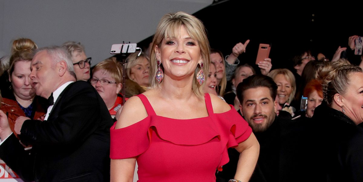 Ruth Langsford looks so stylish in a long-sleeved leopard maxi dress from John Lewis