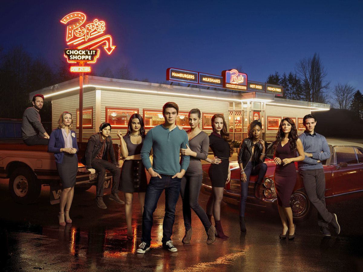 Pop's Chock'Lit Shoppe Is a Real Place Sure, the one used in Riverdale is a replica—a replica so realistic a group of truck drivers once pulled into it looking for some food—but the look and feel of Pop's Chock'Lit Shoppe is inspired by Rocko's Diner, an eatery in Mission, British Columbia. You'll also recognize it from Percy Jackson and The Lightning Thief .