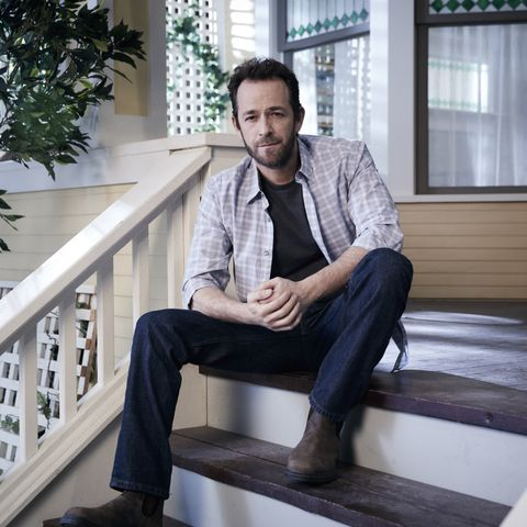 Luke Perry on the set of 'Riverdale'