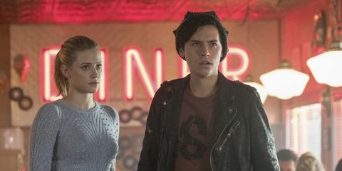 Betty and Jughead on Riverdale