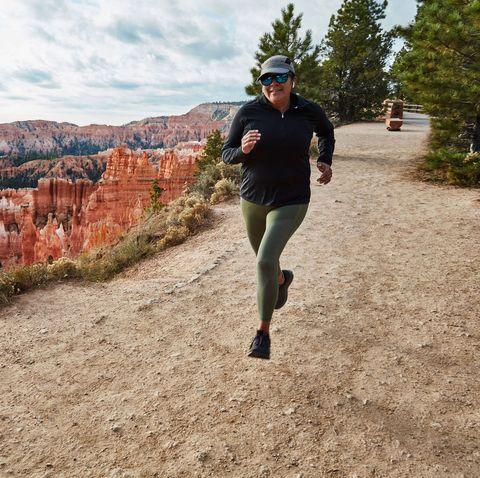 Trail, Outdoor recreation, Recreation, Canyon, Wilderness, Running, Tree, Mountain, Landscape, Ultramarathon,