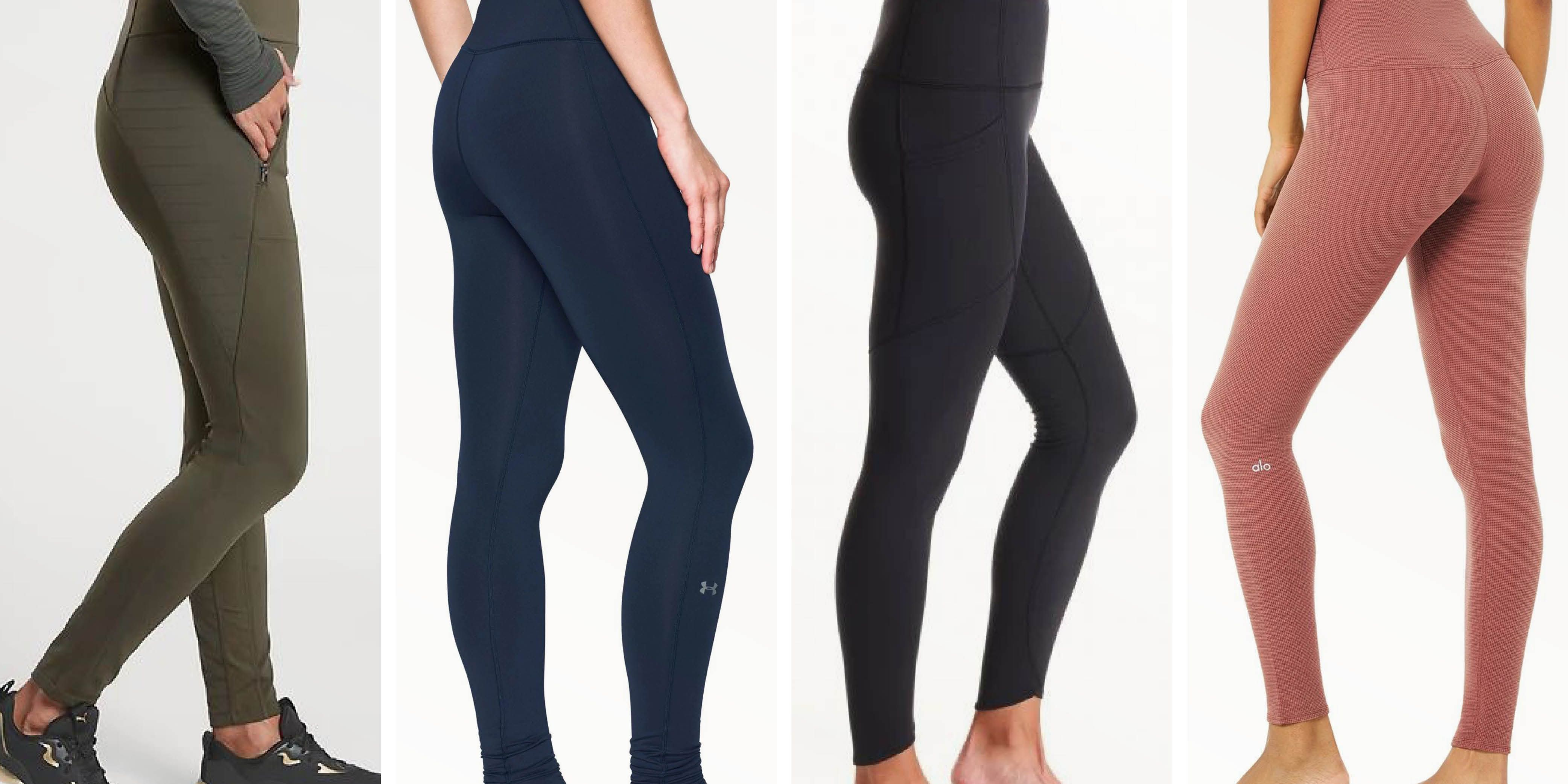SHEDJT Womens Thermal Thick Fleece Lined Stretch Pants Winter Warm Thin Leggings