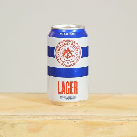 Ballast Point Lager is a low calorie beer