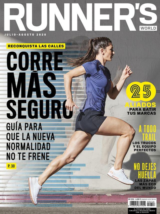 portada de la revista runner's world edición españa de julio agosto edición verano de 2020
