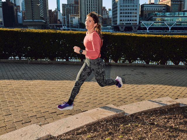 coach jess movold running around nyc on tuesday, march 9, 2021