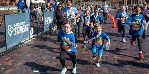 Kids run at the Runner's World Half Marathon Festival in 2019