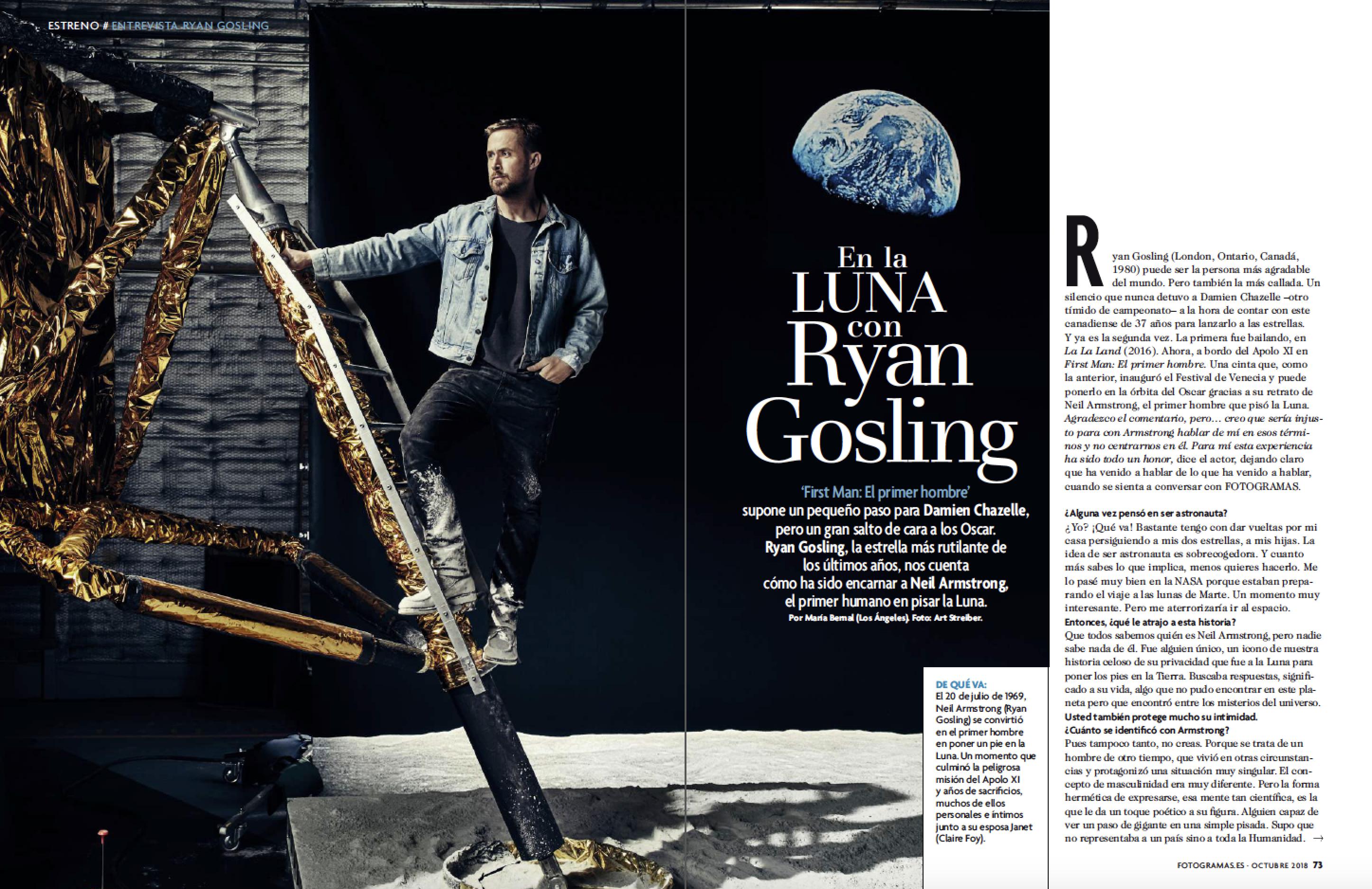 Ryan Gossling en 'First Man: El primer hombre'