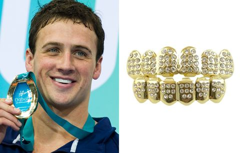 Ryan Lochte gold grill