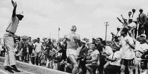 Jim Ryun running a sub-4 mile in a high school meet