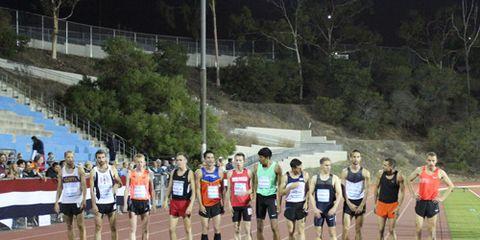 Start of the men's mile at the Jim Ryun Festival of Miles