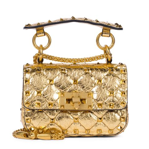 valentino garavani 金色鉚釘鍊帶包