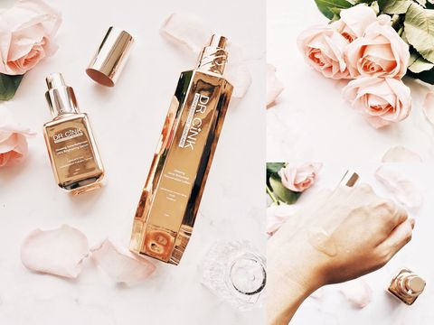 Skin, Perfume, Beauty, Finger, Hand, Cosmetics, Fashion accessory, Copper, Material property, Font,