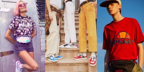 早期是義大利運動品牌的ellesse現今結合嘻哈文化的設計感。