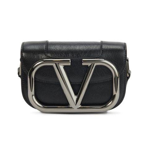 valentino super v黑色斜跨包