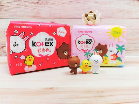 kotex攜手brown friends 推出史上最q萌衛生棉