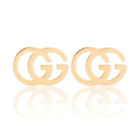 gucci gg 18k金色耳環
