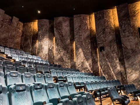 Sky, Auditorium, Theatre, Architecture, Sport venue, Building, heater, Metal,