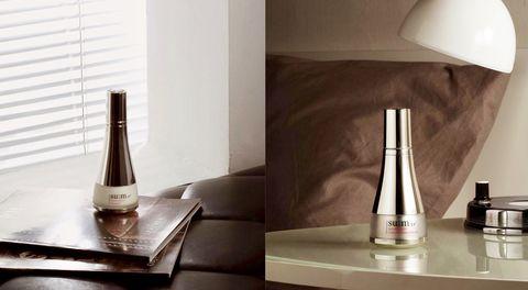 Table, Furniture, Glass bottle, Wine bottle, Room, Bottle, Tile, Floor, Shelf, Still life photography,