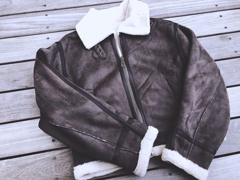 Jacket, Clothing, Leather jacket, Outerwear, Zipper, Leather, Sleeve, Textile,