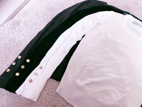 White, Clothing, Sleeve, Outerwear, Collar, Button, Shirt, Zipper, Jacket,