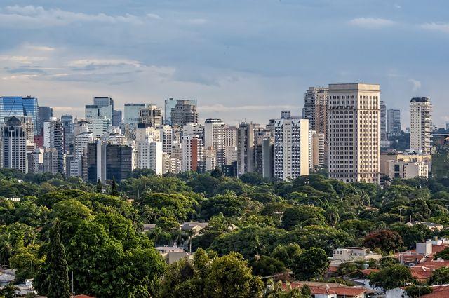 são paulo cityscape showing  the faria lima avenue region, brazil