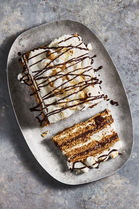 s'mores icebox cake