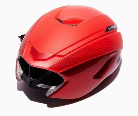 Helmet, Motorcycle helmet, Personal protective equipment, Red, Clothing, Ski helmet, Sports gear, Motorcycle accessories, Headgear, Sports equipment,