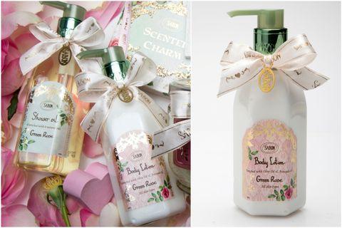SABON,綠玫瑰香氣,前中後香調,以色列綠玫瑰沐浴油,綠玫瑰身體乳液