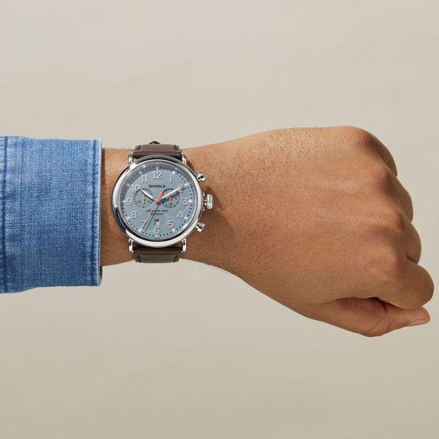Watch, White, Blue, Wrist, Analog watch, Hand, Fashion accessory, Denim, Watch accessory, Jeans,