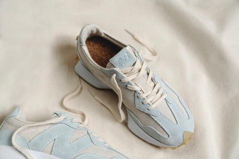 nb327全新寶寶藍色環保運動鞋