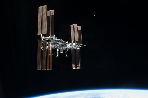Space station, Space, Spacecraft, Satellite, Architecture, Building, Night,