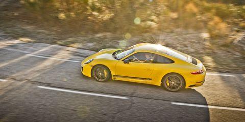 Land vehicle, Vehicle, Car, Sports car, Yellow, Supercar, Performance car, Coupé, Automotive design, Porsche,