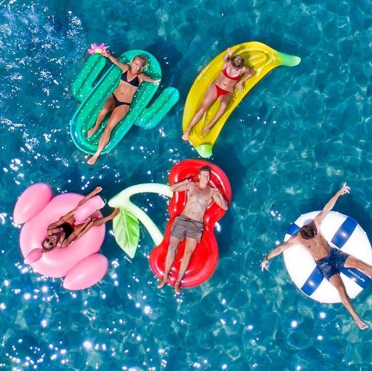 Sunnylife, 度假, 泳圈, 電風扇, 冰淇淋, 夏天, 趣味, 配件, 海灘, 泳池