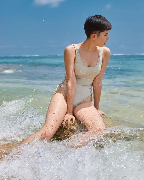 Clothing, Gravure idol, Beauty, Swimwear, Skin, Summer, Vacation, Sea, Bikini, Fun,