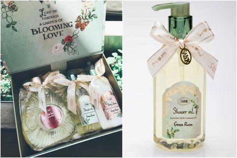 SABON,綠玫瑰香氣,前中後香調,以色列綠玫瑰沐浴油