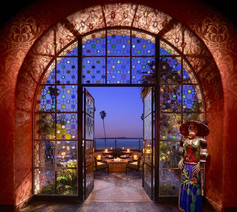 Arch, Architecture, Glass, Window, Majorelle blue, Stained glass, Building, Lighting, Door, Night,