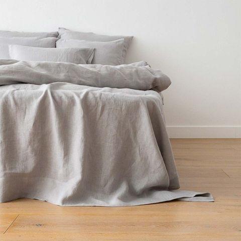 sábanas grises de lino