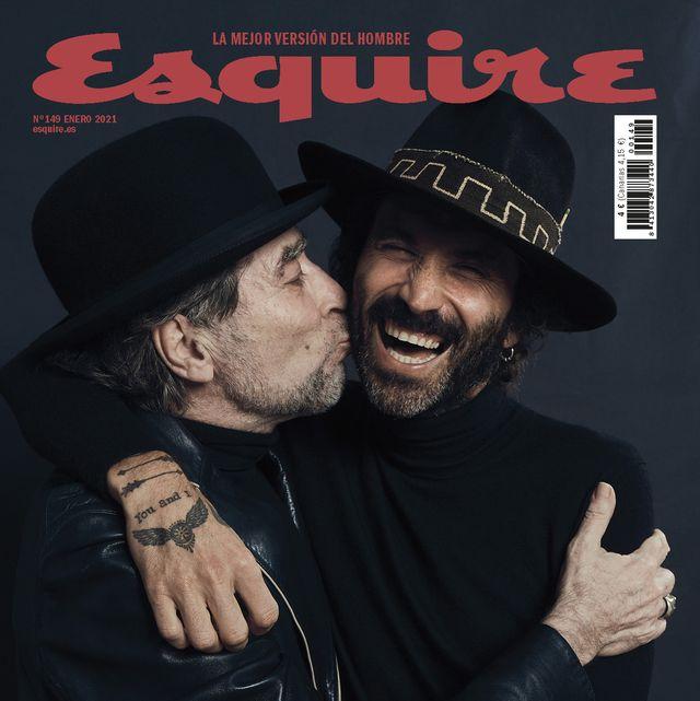 joaquín sabina y leiva en la portada de enero de 2021 de esquire