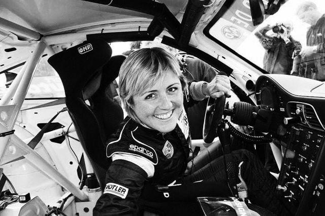 sabine schmitz in a race car