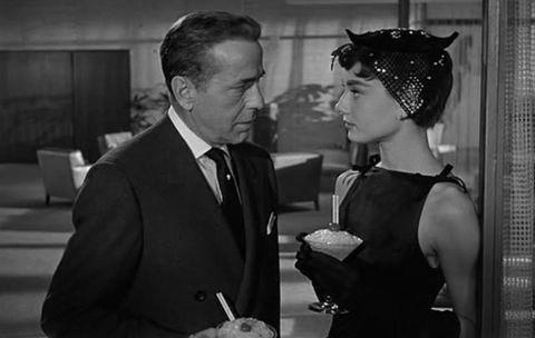 'sabrina' 1954, con humphrey bogart y audrey hepburn