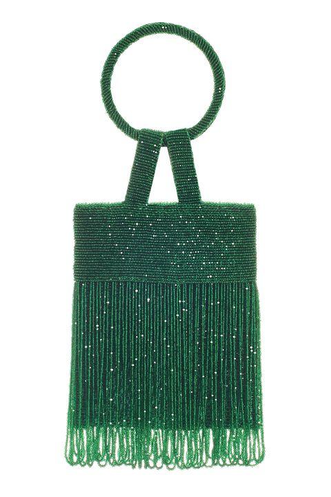 Green, Bag, Handbag, Fashion accessory, Leather,