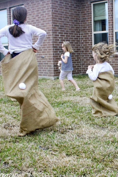 sack race easter games